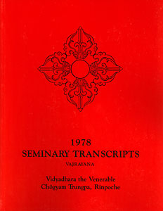 1978 Seminary Transcripts Vajrayana
