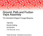 Vajra Assembly: Ground, Path & Fruition CD