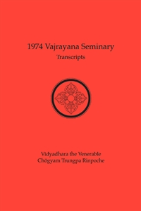 1974 Vajrayana Seminary Transcripts: eBook (ePub format only)