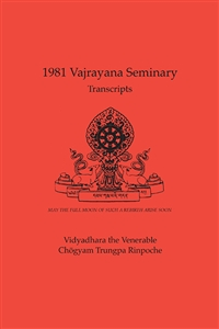 1981 Vajrayana Seminary Transcripts: eBook (ePub format only)