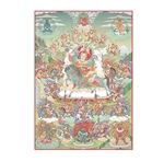 The Activity of Blessings (Dorje Dradul tangka)- color print