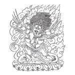 Vajrakilaya Line Drawing by D. Brown